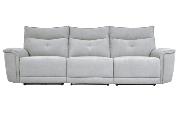 Home Elegance Tesoro Mist Gray Power Double Reclining Sofa HE-9509MGY-3PWH-SF