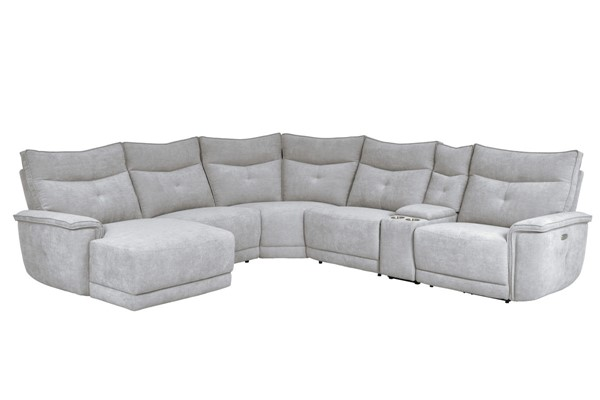 Home Elegance Tesoro Mist Gray 6pc Sectional Set HE-9509MGY-65LRR-SEC