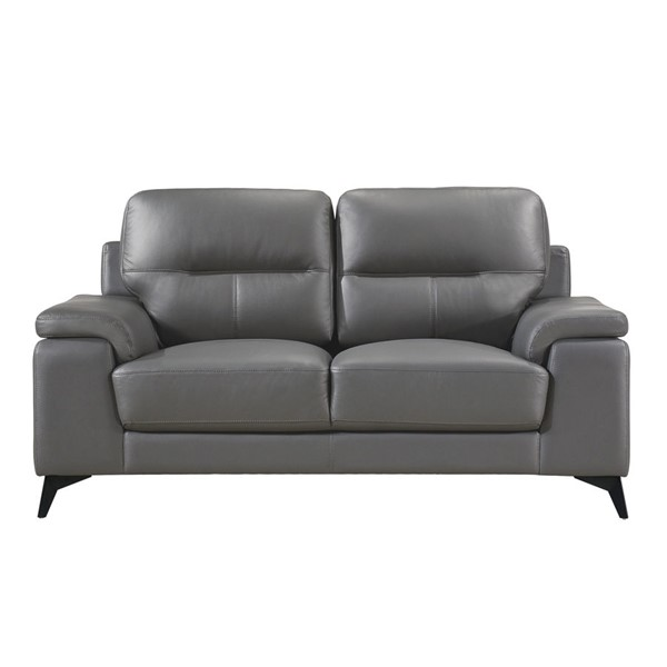 Home Elegance Mischa Dark Gray Love Seat HE-9514DGY-2