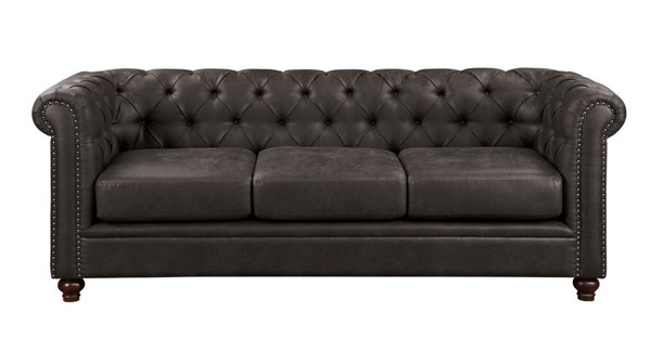 Home Elegance Wallstone Brown Sofa HE-9517BRW-3