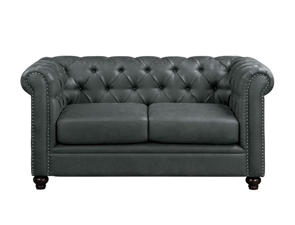 Home Elegance Wallstone Gray Love Seat HE-9517GRY-2