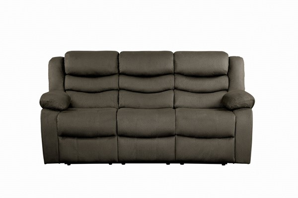 Home Elegance Discus Brown Double Reclining Sofa HE-9526BR-3