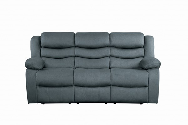 Home Elegance Discus Gray Double Reclining Sofa HE-9526GY-3