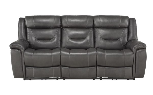 Home Elegance Danio Dark Gray Power Double Reclining Sofa HE-9528DGY-3PWH