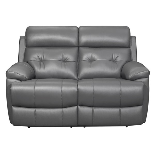 Home Elegance Lambent Dark Gray Double Reclining Love Seat HE-9529DGY-2