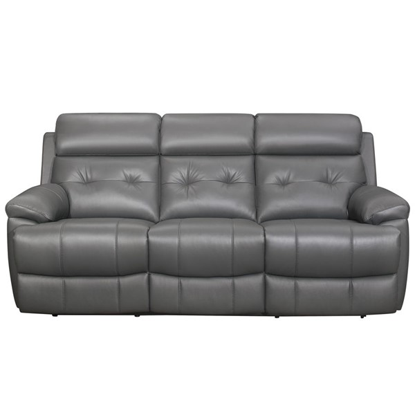 Home Elegance Lambent Dark Gray Double Reclining Sofa HE-9529DGY-3