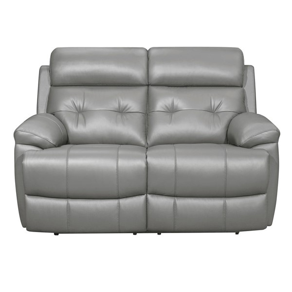 Home Elegance Lambent Gray Double Reclining Love Seat HE-9529GRY-2