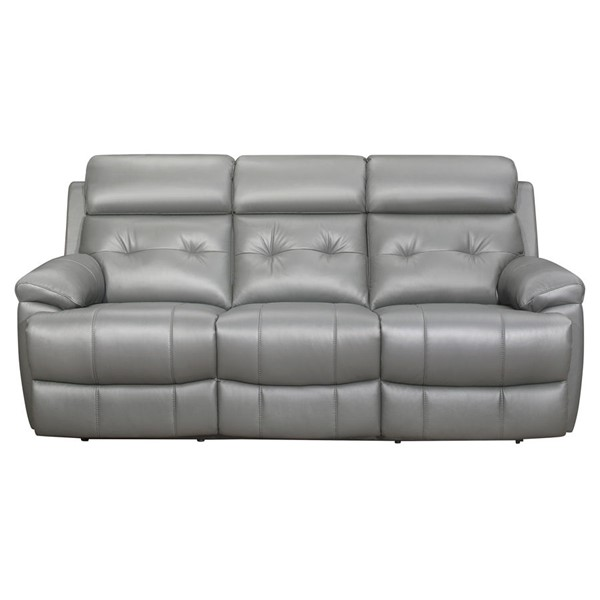 Home Elegance Lambent Gray Double Reclining Sofa HE-9529GRY-3