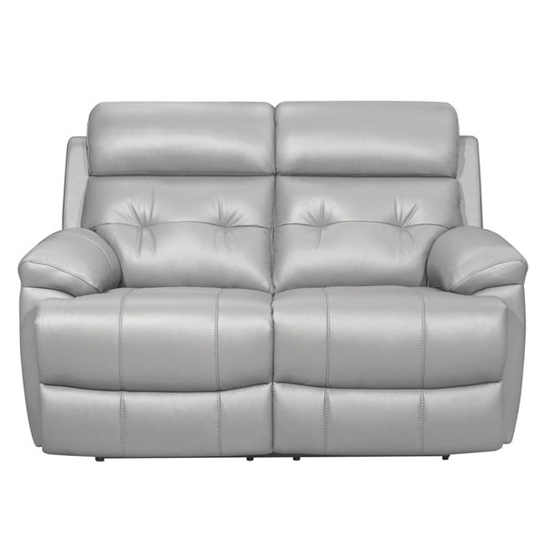 Home Elegance Lambent Silver Gray Double Reclining Love Seat HE-9529SVE-2