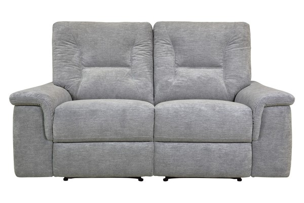 Home Elegance Edelweiss Metal Gray Double Reclining Love Seat HE-9536MT-2