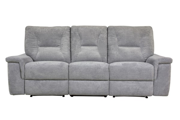 Home Elegance Edelweiss Metal Gray Power Double Reclining Sofa HE-9536MT-3PW