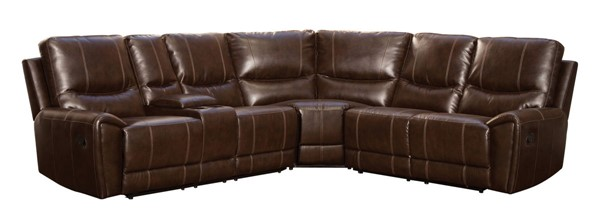 Home Elegance Gerald Brown 3pc Sectional HE-9600-3