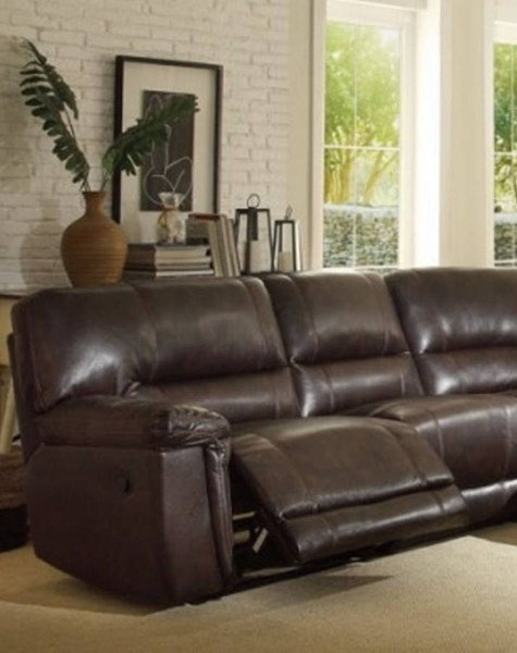 Blythe II Casual Dark Brown Faux Leather Left Side Reclining Chair HE-9606AH-LR