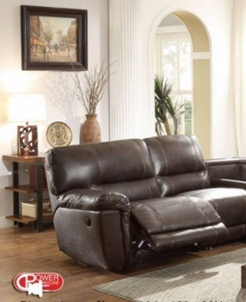 Blythe II Dark Brown Faux Leather Power Left Side Reclining Chair HE-9606AH-LRPW