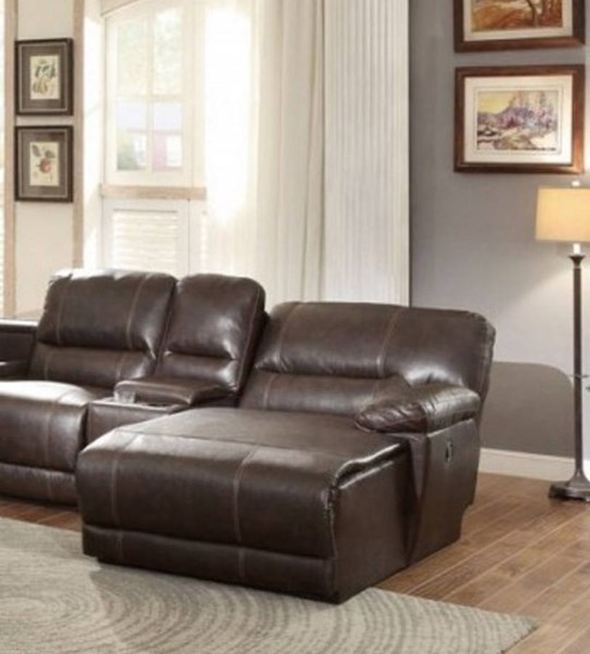 Blythe II Casual Dark Brown Faux Leather Right Side Reclining Chaise HE-9606AH-RC