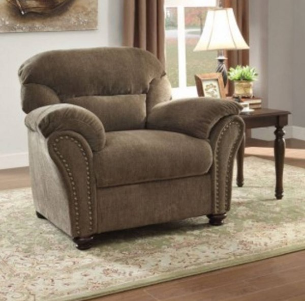 Valentina Traditional Neutral Chenille Microfiber Chair HE-9619NF-1