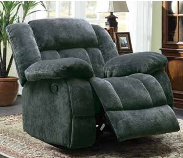 Laurelton Charcoal Fabric Glider Reclining Chair HE-9636CC-1