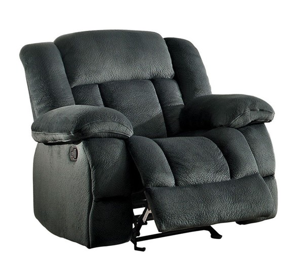Home Elegance Laurelton Charcoal Glider Reclining Chair HE-9636CC-1