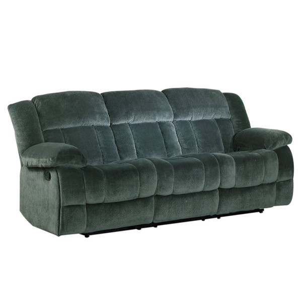 Home Elegance Laurelton Charcoal Double Reclining Sofa HE-9636CC-3