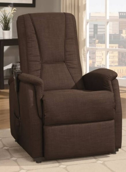 Glenson Modern Dark Brown Fabric Power Lift Chair HE-9644DB-1LT