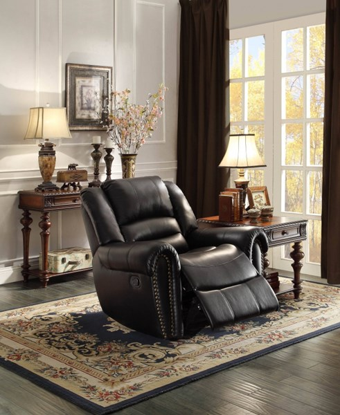 Center Hill Traditional Bonded Leather Glider Reclining Chair HE-9668-REC-VAR