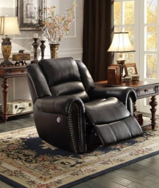 Center Hill Traditional Bonded Leather Power Reclining Chair HE-9668-PW-REC-VAR