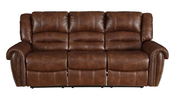 Home Elegance Center Hill Saddle Double Reclining Sofa HE-9668NSD-3