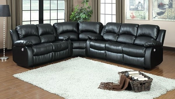 Cranley Black Brown Chocolate Bonded Leather Power Sectionals HE-9700-PW-SEC-VAR