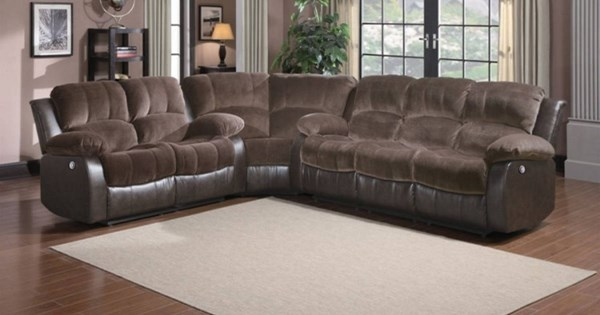 Cranley Chocolate Dark Brown Bonded Leather Power Sectional HE-9700-PW-SEC3