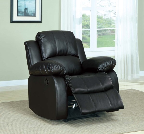 Cranley Black Bonded Leather Power Reclining Chair HE-9700BLK-1PW