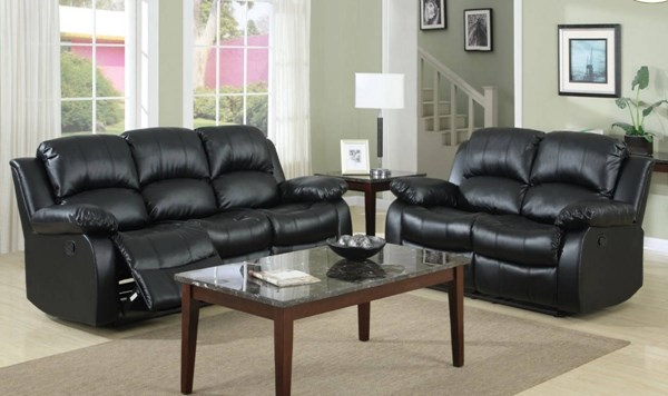 Cranley Bonded Leather Power Double Reclining Sofa HE-9700-PW-SF-VAR