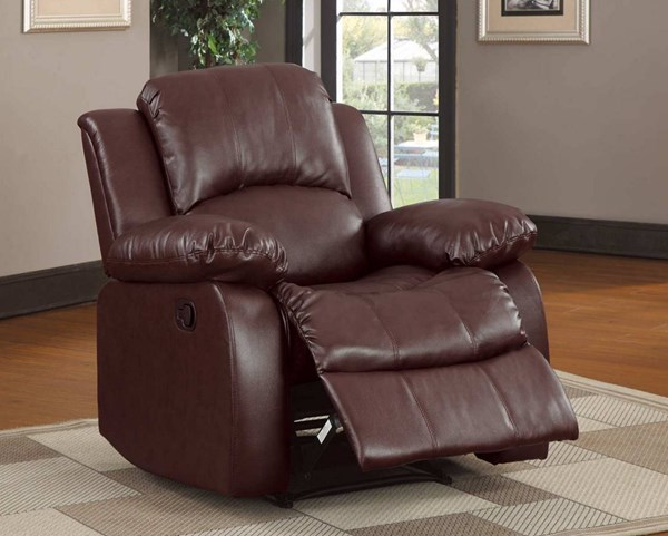 Cranley Brown Bonded Leather Power Reclining Chair HE-9700BRW-1PW