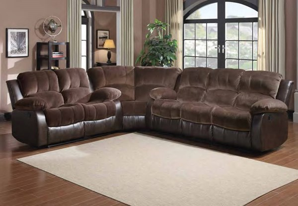 Cranley Chocolate Dark Brown Bonded Leather Corner Seat HE-9700FCP-C