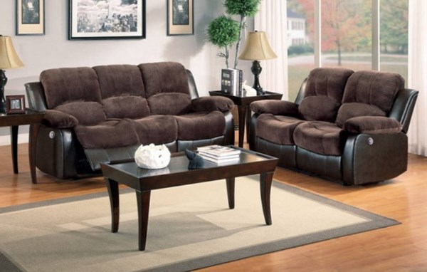 Cranley Chocolate Dark Brown Bonded Leather 3pc Power Living Room Set HE-9700-PW-LR-S3