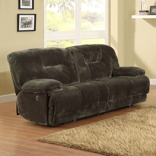 Home Elegance Geoffrey Power Double Reclining Sofa HE-9723-3PW