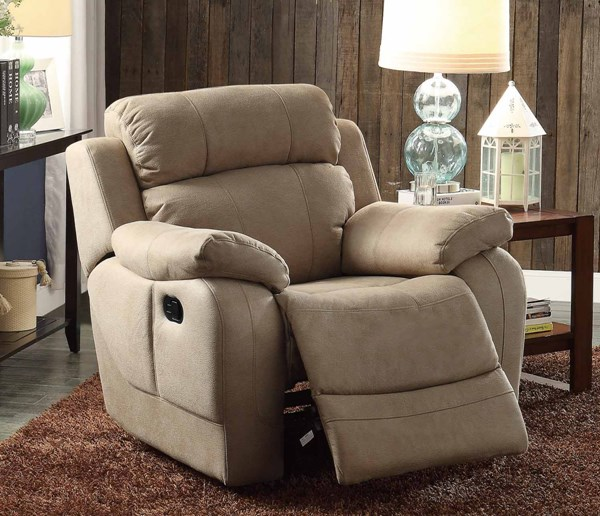 Marille Taupe Fabric Glider Reclining Chair HE-9724TPE-1