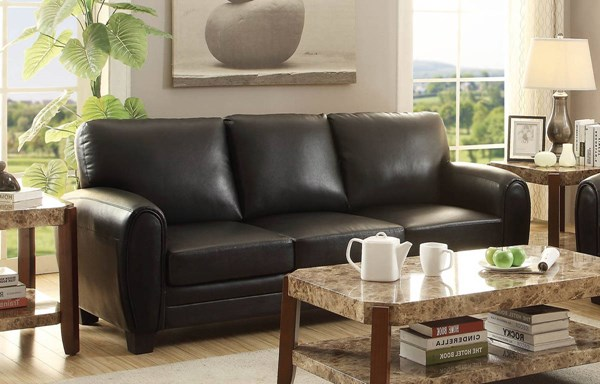 Home Elegance Rubin Black Brown Taupe Sofas HE-9734-SF-VAR