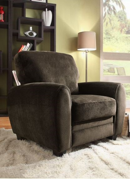Rubin Modern Chocolate Wood Microfiber Chair HE-9734CH-1