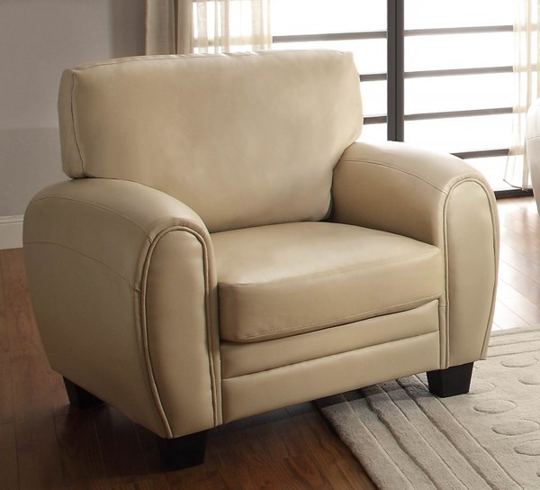Rubin Retro Taupe Bonded Leather Cushion Back Chair HE-9734TP-1