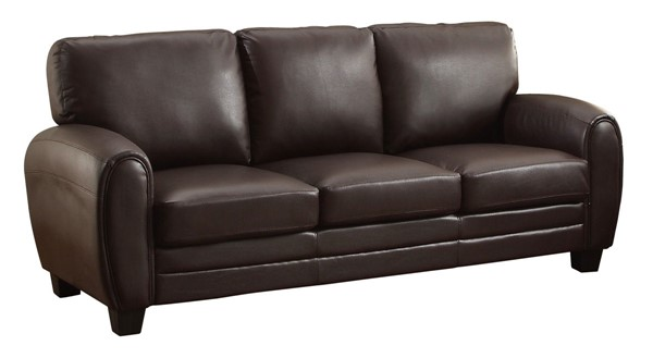 Home Elegance Rubin Dark Brown Sofa HE-9734DB-3