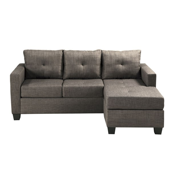 Home Elegance Phelps Brownish Gray Reversible Sofa Chaise HE-9789BRG-3LC