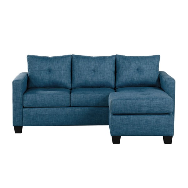 Home Elegance Phelps Blue Reversible Sofa Chaise HE-9789BU-3LC