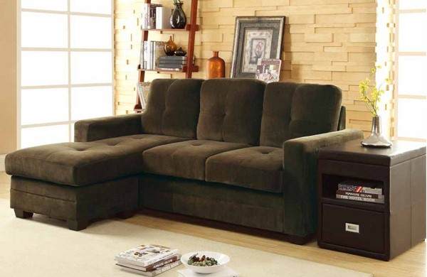 Home Elegance Phelps Chocolate Sofa Chaise HE-9789CF-3LC