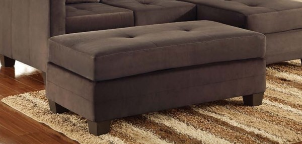 Home Elegance Phelps Chocolate Ottoman HE-9789CF-4