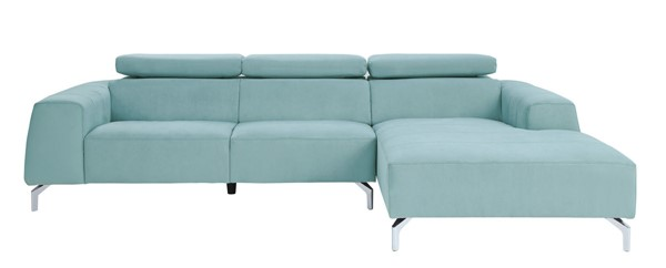 Home Elegance Prose Teal 2pc Sectional HE-9802TL-SC