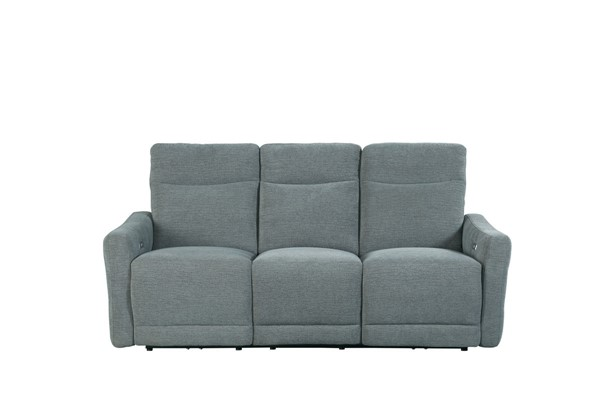 Home Elegance Edition Dove Power Flat Reclining Sofa HE-9804DV-3PWH