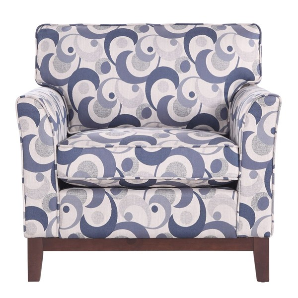 Home Elegance Blue Lake Blue Accent Chair HE-9806-1S