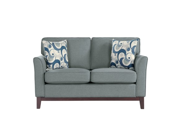 Home Elegance Blue Lake Gray Love Seat HE-9806GRY-2