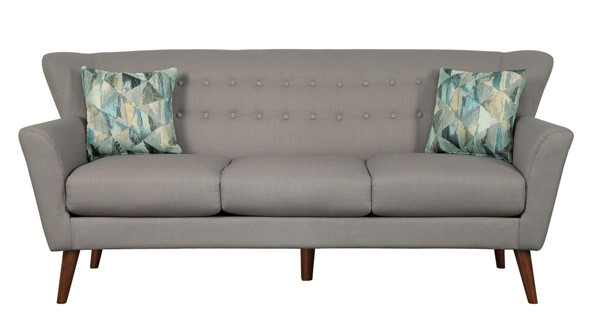 Home Elegance Maja Gray Sofa with Two Pillows HE-9807GY-3