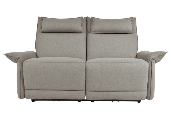 Home Elegance Linette Taupe Power Double Reclining Love Seat HE-9819TP-2PWH